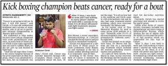 Kick boxing champion beats cancer, ready for a bout