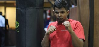 Kick-boxing gold medallist gives cancer the scare