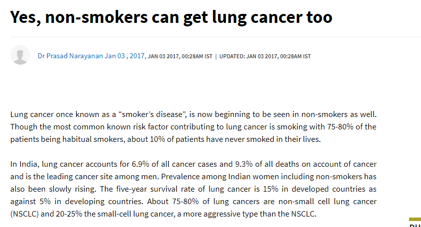 Yes, non-smokers can get lung cancer too