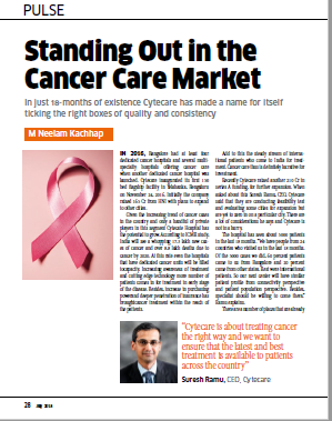 Standing out in the cancer care market - India Med Today Coverage