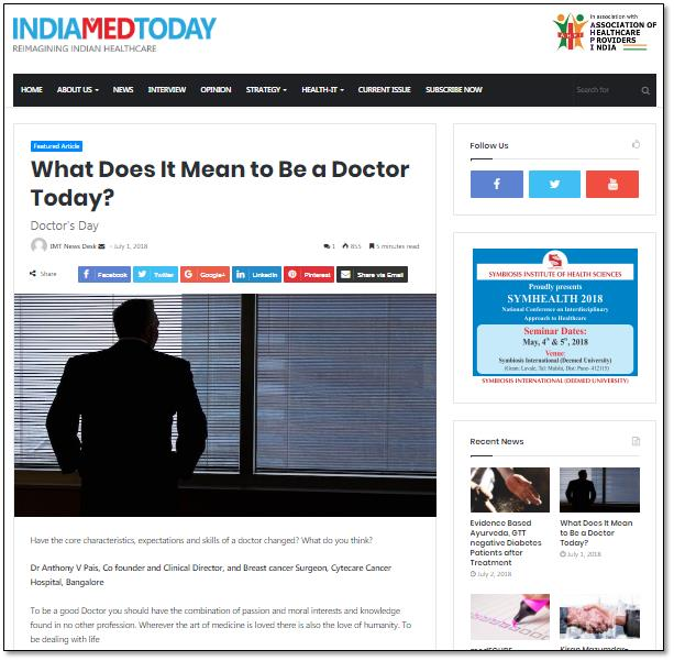 What Does It Mean to Be a Doctor Today?