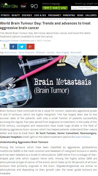 World Brain Tumour Day: Trends and advances to treat aggressive brain cancer